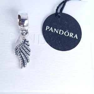 Majestic Feather Dangle Charm by Pandora Silver